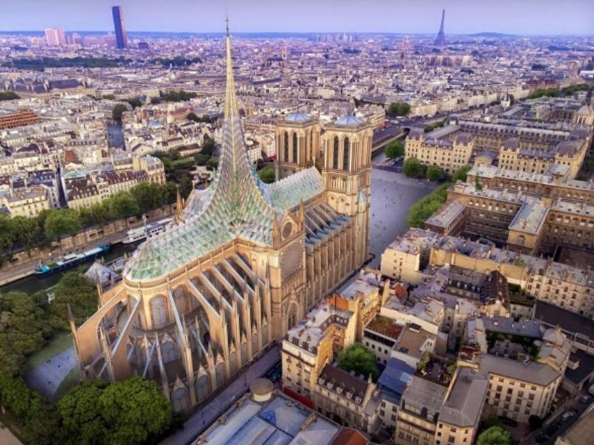 Новая крыша собора Нотр-Дам, по проекту, сможет питать энергией целый квартал Парижа