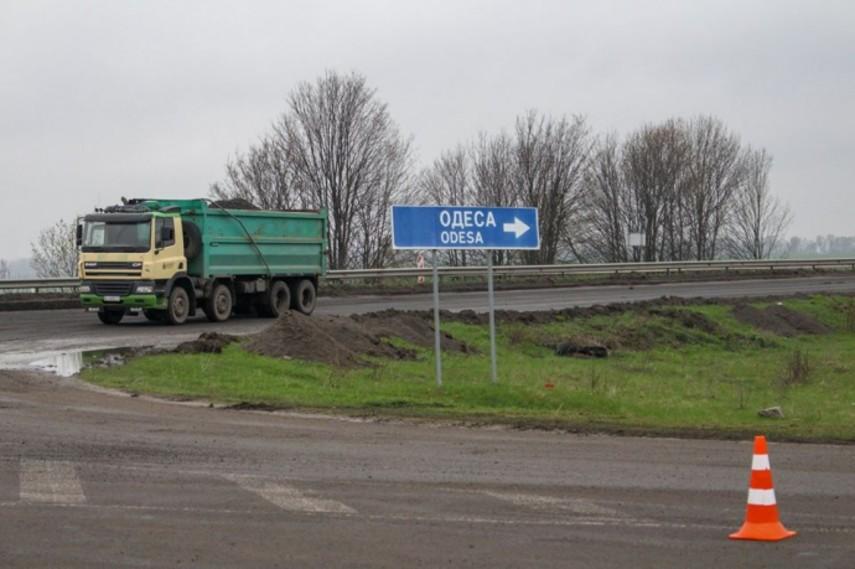 Дорога Киев-Одесса частично станет бетонной