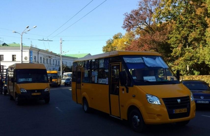 В Полтаве остановился городской транспорт