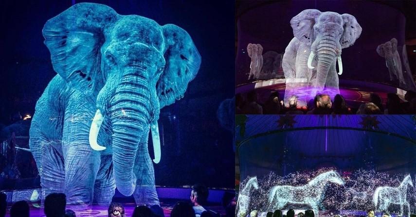 В немецком цирке вместо животных выступают голограммы (Видео)